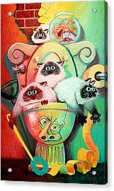 Head Cleaners Acrylic Print by Baron Dixon