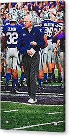 Head Coach Bill Snyder Of Kansas State Acrylic Print