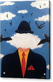 Head In The Cloud Acrylic Print by Thomas Blood