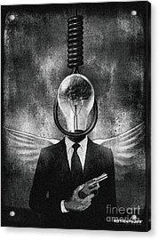 Head Like A Hole Acrylic Print by Remedysains