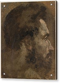 Head Of A Bearded Man In Profile To The Right  Acrylic Print