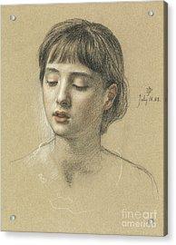 Head Of A Girl, 1883 Acrylic Print by Edward John Poynter