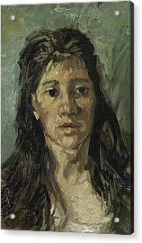 Head Of A Prostitute Acrylic Print by Vincent van Gogh