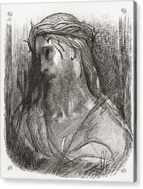 Head Of Christ, After The Original Acrylic Print
