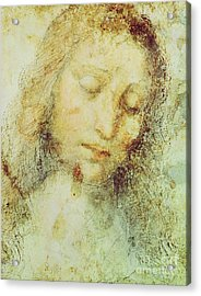 Head Of Christ Acrylic Print by Leonardo Da Vinci
