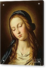 Head Of The Madonna Acrylic Print by Il Sassoferrato
