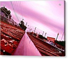 Head On The Tracks Acrylic Print by Chuck Taylor