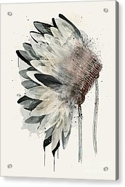 Acrylic Print featuring the painting Headdress by Bri B