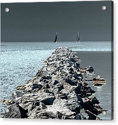 Headed For The Rocks Acrylic Print