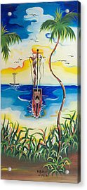 Headed To Shore Acrylic Print by Herold Alvares
