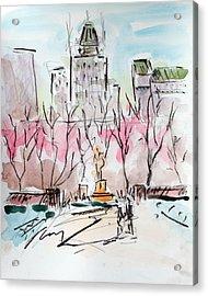 Heading Back To The Plaza Acrylic Print by Chris Coyne