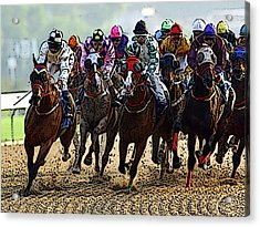 Heading For Thefinish Line Acrylic Print