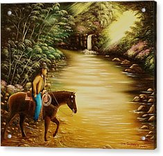 Acrylic Print featuring the painting Heading Home by Gene Gregory