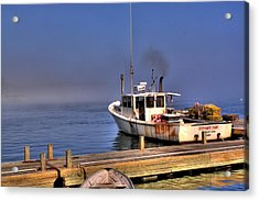 Acrylic Print featuring the photograph Heading Out To Sea by Greg DeBeck