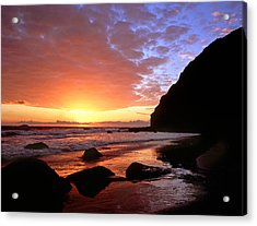 Headlands At Sunset Acrylic Print by Cliff Wassmann