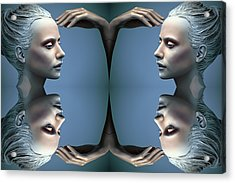 Heads As One Thought Acrylic Print