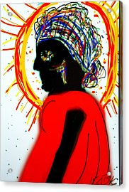 Headscarf Acrylic Print by Kathy Barney