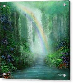 Healing Grotto Acrylic Print by Carol Cavalaris