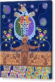Acrylic Print featuring the painting Healing - Nanatawihowin by Chholing Taha