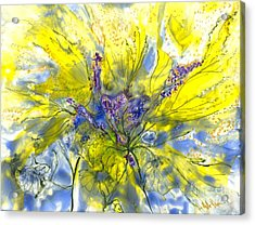 Healing Painting For Viet Acrylic Print by Heather Hennick