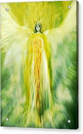 Healing With Golden Light Acrylic Print