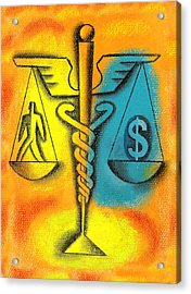 Healthcare Cost Acrylic Print