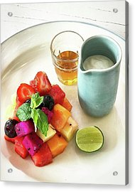 Healthy Breakfast, Fresh Seasonal Acrylic Print by Arya Swadharma