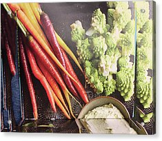 Acrylic Print featuring the photograph Healthy Food Veggie Salad Kitchen Chef Cuisine Birthday Christmas Festivals Mom Dad Festivals Sister by Navin Joshi