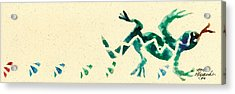 Hear The Lizard Acrylic Print by Annie Alexander
