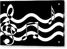 Hear The Music Acrylic Print by Evelyn Patrick