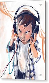 Hearing The Music Acrylic Print by Phil Vance
