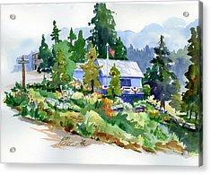 Hearse House Garden Acrylic Print