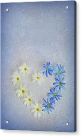 Heart And Flowers Acrylic Print