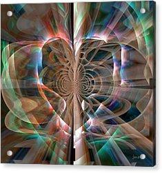 Heart Born To Love Acrylic Print by Fania Simon
