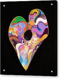 Acrylic Print featuring the painting Heart Bowl by Bob Coonts