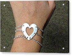 Heart Bracelet Acrylic Print by Sarah B