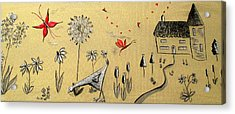 Heart Cottage Red 2 Acrylic Print