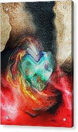 Acrylic Print featuring the digital art Heart Deep by Linda Sannuti
