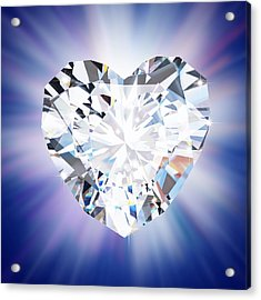Heart Diamond Acrylic Print