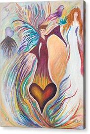 Heart Goddess Acrylic Print by Leti C Stiles