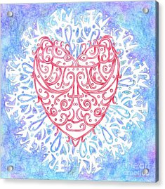 Heart In A Snowflake II Acrylic Print