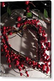 Heart In Shadow Acrylic Print by Lindie Racz