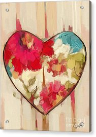 Heart In Stitches Acrylic Print