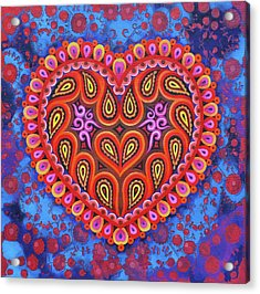Heart Acrylic Print by Jane Tattersfield