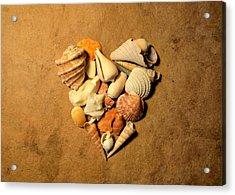 Heart Mosaic On Paper 8 Acrylic Print