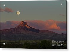 Heart Mountain And Full Moon-signed-#0273  #0273 Acrylic Print