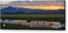 Heart Mountain Sunset Acrylic Print