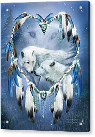 Acrylic Print featuring the mixed media Heart Of A Wolf 3 by Carol Cavalaris