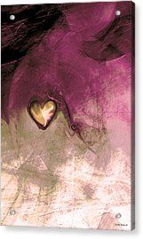 Heart Of Gold Acrylic Print by Linda Sannuti