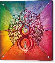 Heart Of Infinity Acrylic Print by Anna Ewa Miarczynska